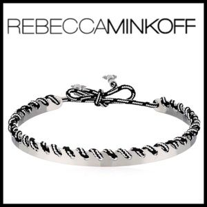 NWT Rebecca Minkoff Whipstitch Choker Necklace